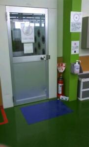 作業場入口(内側)